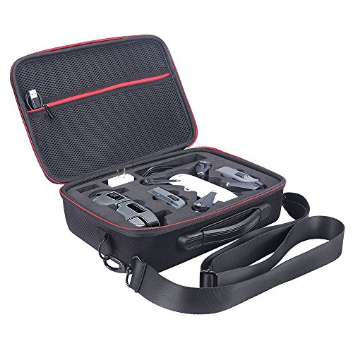 NiceCool® DJI Spark DroneTaschen Shoulder Wasserdichte tragbare Tasche Case, Portable Tragetasche Hülle Hartschalen Koffer für DJI SPARK Drohne, Kann beherbergen Ladegerät, Akku,Fernbedienung, Propeller und Zubehör