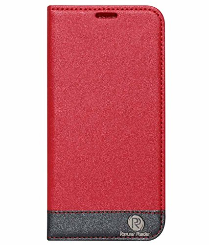 DMG PopularRider Magnetic Wallet Flip Cover Stand Case For Samsung Galaxy S5 G900 (Red)  available at amazon for Rs.299