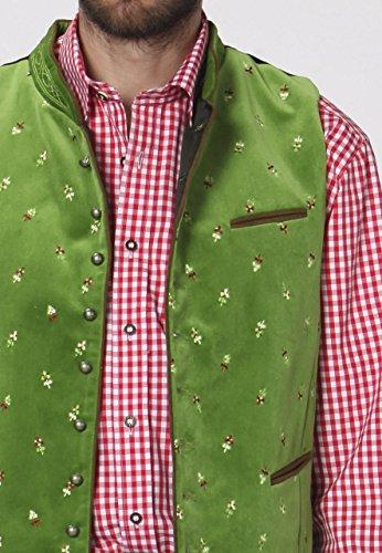 Stockerpoint - Herren Trachten Weste in verschiedenen Farbtönen, Calzado, Größe:56, Farbe:Hellgrün - 5