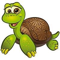 Autoaufkleber Sticker Schildkröte liegend Aufkleber