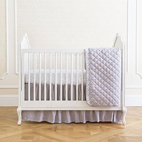 Summer Classic Bedding Set with Adjustable Crib Skirt, Frame Geo, 4 Piece