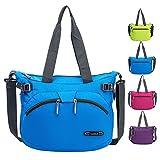 RLANDTO Leichte Crossbody Umhängetasche Wasserdichte Nylon Gym Handtaschen Casual Umhängetasche für Frauen (Blau)