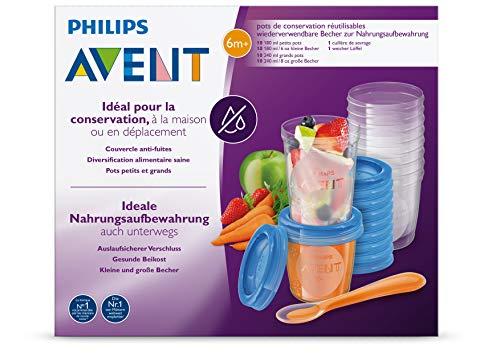 Philips Avent SCF721/20 Aufbewahrungssystem für Babynahrung, 20er Pack (10×180 ml, 10x 240 ml) - 5