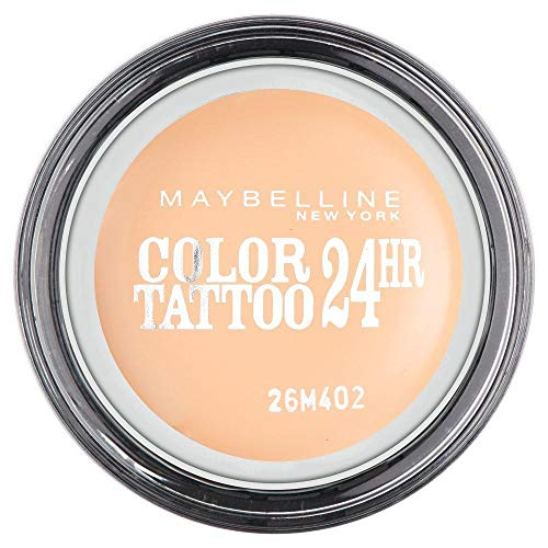 Maybelline Eyestudio Color Tattoo 24H Creme-Gel-Lidschatten Nr. 93 Creme de Nude, leuchtende Farbe dank innovativer Tinten-Technologie, bis zu 24h Halt durch die Creme-Gel-Formel, 4 g