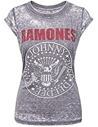 Ramones Camiseta Oficial Presidential Seal Burnout (Gris)