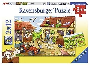 Trefl 07560 - Juego de 2 puzles (12 piezas cada uno), diseño de granja