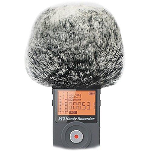 Funda de viento para micrófono de exterior para Zoom H1, H2n, H4n, H5, H6 (color gris oscuro)