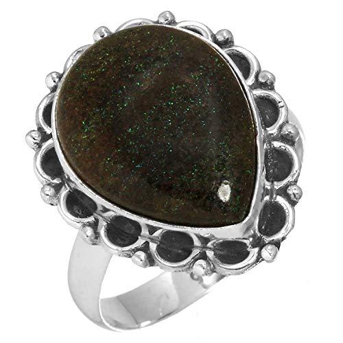 Jeweloporium Natürliche Honduras Schwarz Matrix Opal Edelstein Ring Solide 925 Sterling Silber Neueste Schmuck Größe 61 (19.4) (Honduras Silber Schmuck)