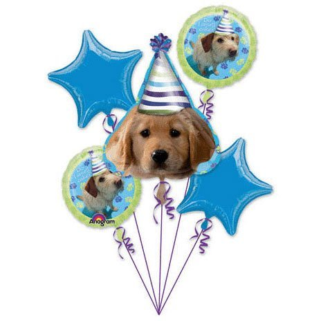 Party Pups Happy Birthday Foil Balloon Bouquet by Anagram