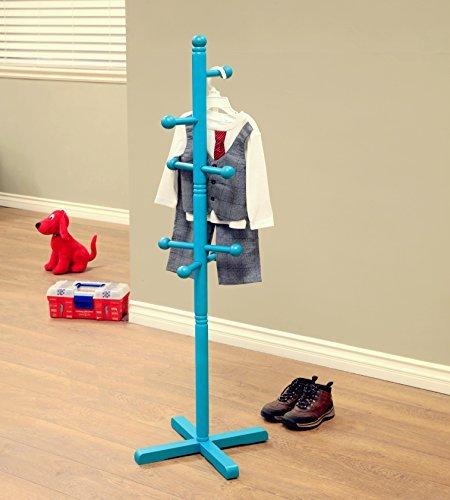 Frenchi Home Furnishing Kid's Coat Rack Blue finish by Frenchi Home Furnishing - Blue Coat Rack