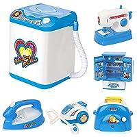 Catkoo Mini Simulation Sewing Washing Machine Fridge Fan Dollhouses Furniture Kids Toy,Perfect Training Children