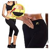 Aptoco Pantaloni modellanti e dimagranti, da donna, in Neoprene termico, con cintura in vita (M)