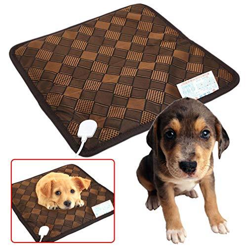 RWGJM Safe Pet Mat Elektrische Heizkissen 45x45CM Warmer beheiztes Kissen Indoor Outdoor Hund, Q Oval Safe