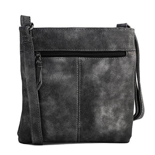 Jennifer Jones - präsentiert von ZMOKA®, Borsa a tracolla donna grigio grigio chiaro nero metallizzato