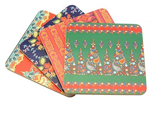 William Morris Set von 4ergänzt Ägyptische Textilien Design Untersetzer... -