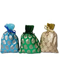 WeddingPitara Shagun Gift Potli Bags 20 * 19 Cms