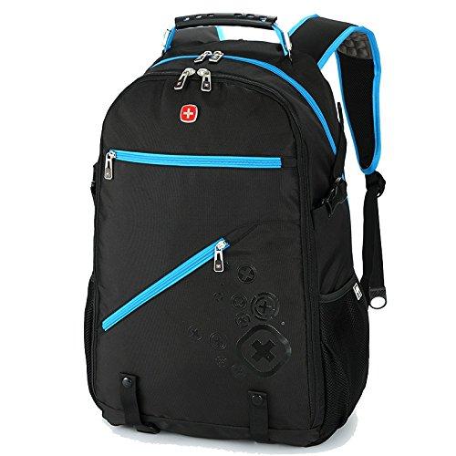 Viaggi pieghevole rampicante esterno borsa tracolla donne dello zaino bag man sezione sottile della pelle ( colore : blu )