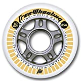 FreeWheeling Set nr. 4 Ruote Pattini Race 80mm 85A Argento 1117382
