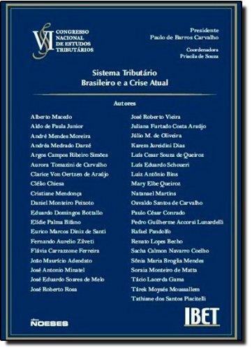 VI Congresso. Sistema Tributário Brasileiro e a Crise Atual