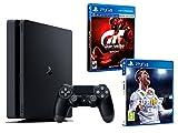 "PS4 Slim 1Tb Konsole - 2 Spiele Bundle - FIFA 18 + Gran Turismo Sport ""GT Sport"""