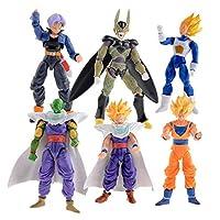 6pcs/set 12cm anime Dragon Ball Z Super Saiyan Trunks vegeta Son Goku uub Kakarotto PVC Action Figure toys Christmas gift toy-xx