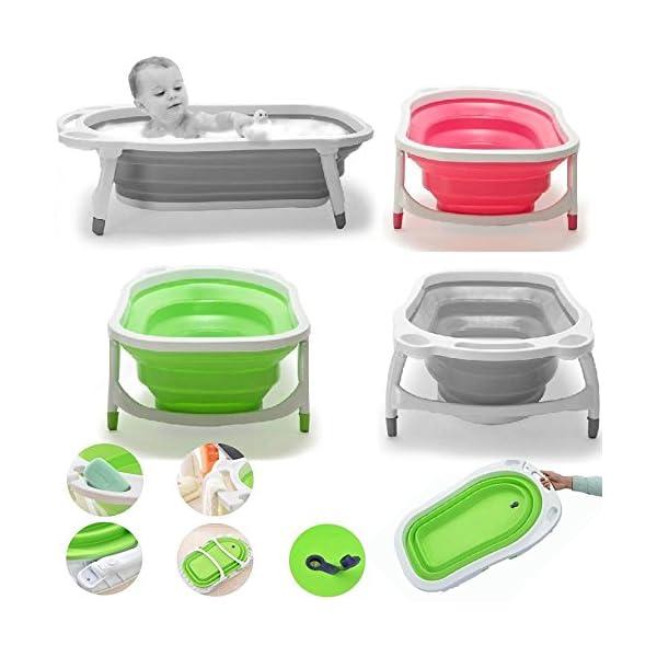 iSafe Foldable Baby Bath - Pink 3