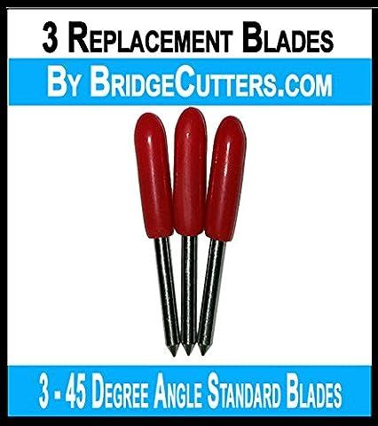 Bridge Cutters Brother Scan N cut Lot de 3 lames standards de découpe à angle Lames de remplacement