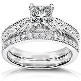 Kobelli  -  14 Kt  Weißgold Prinzessschliff Rundschliff   Feines Weiß/Top Wesselton (G) - Weiß/Wesselton (H) Leicht Getöntes Weiß/Top Crystal (I) Diamant