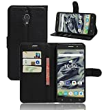 Vodafone Smart First 7 Gr8 value Luxury PU Leather Wallet Cover Flip book Phone Mobile Case For Vodafone Smart First 7 (BLACK BOOK)