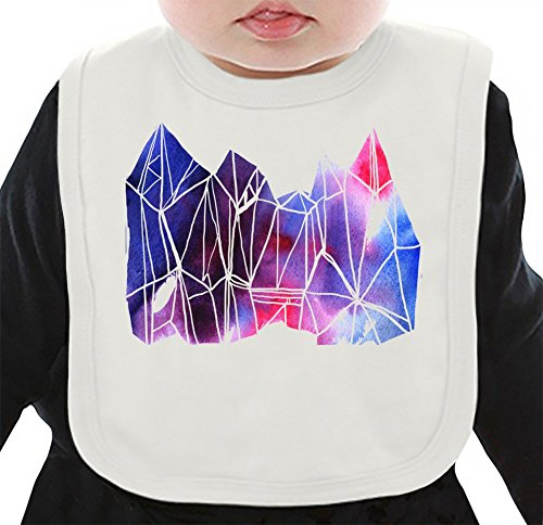 Diamonds Print Organisches Lätzchen Medium (Shirts Print Diamond)