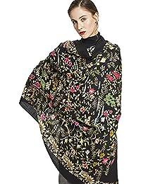 Ztweijin 100% Foulard Carré Femmes Élégante Dame Et Chaud Châle Long  Imprimé Animal Écharpe Hijab Plage… b81cf67d7320