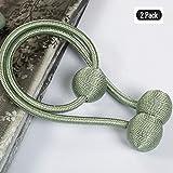 LMYI-K 2 Stücke Vorhang Raffhalter Magnet Raffhalter Vorhang Schnalle Mit Starken Magnetischen Für Wohnkultur Krawattenband Verschluss Krawatte Seil Anhänger Dekorative Lila