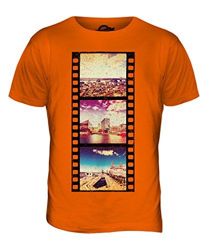 CandyMix Liverpool Pellicola Fotografica T-Shirt da Uomo Maglietta Arancione