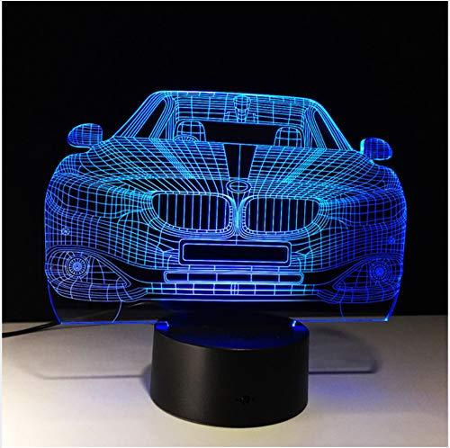 Led-nachtlichter Für Kinder Touch Usb Tisch Lampara Lampe Ihr Rennwagen 3D 7 Farbe Lampe Visuell, G