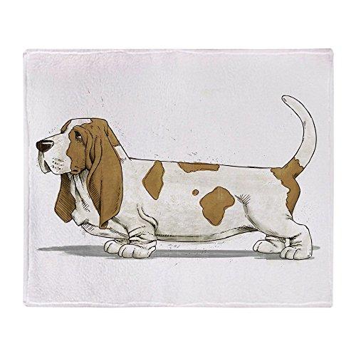CafePress - Basset Hound - Weiche Fleece-Überwurfdecke, 127 x 152 cm Stadion-Decke 50x60 weiß Basset-hound-fleece