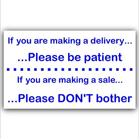 If You Are Making A Delivery or Sale,Please Be Patient,Don't Bother-External Window or Door Information