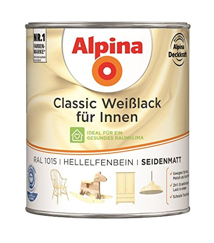 Acryl-Weißlack  <strong>Verbrauch</strong>   70 - 80 ml/m² je Anstrich
