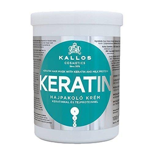 Kallos KJMN Maske mit Keratin und Milchproteine - für trockenes, brüchiges und chemisch behandeltes Haar - Keratin Hair Mask with Keratin and Milk Protein (Maske Chemische)