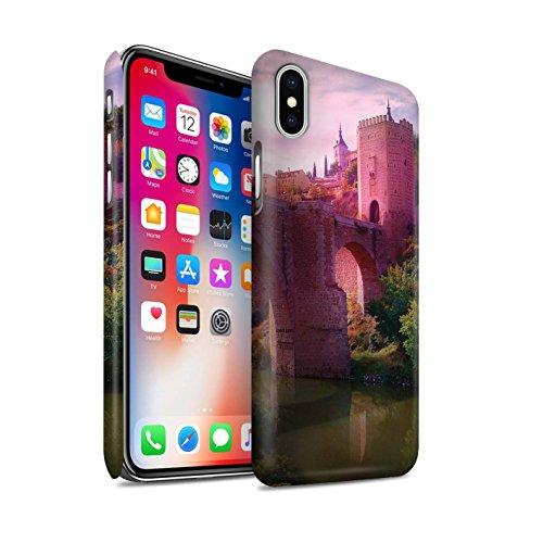 Offiziell Elena Dudina Hülle / Matte Snap-On Case für Apple iPhone X/10 / Berg-Lagune Muster / Fantasie Landschaft Kollektion Schloss-Brücke
