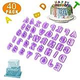 Werded_Alphabet, Kuchen Ausstecher Buchstabe 40 Stk, Ausstechformen in Buchstabenform, Fondant, Kuchen, AusstechformenKuchendekoration