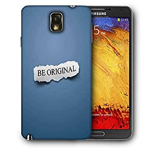 Snoogg Be Original Printed Protective Phone Back Case Cover For Samsung Galaxy NOTE 3 / Note III