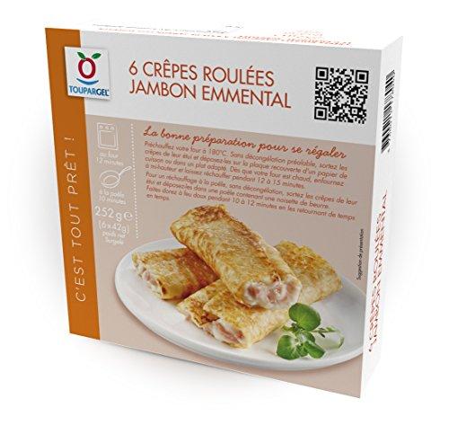 TOUPARGEL - 6 crêpes jambon emmental - 252 g - Surgelé