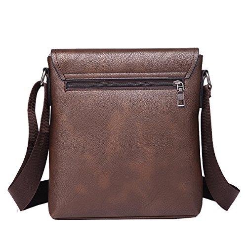 Borsa Da Lavoro Uomo Yy.f Borsa Casual Fashion Pu Man Bag Borsa Da Viaggio Classica Pratica Borsa Computer. 3 Colori Brown