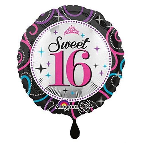 amscan 3055901 Folienballon Sweet 16