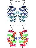 2 Pares de Pendientes con Colgante de Hueco de Libélula Gancho Colgante de Orejas para Favores de Mujeres Niñas (Conjunto de Color 2)