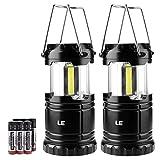 Lighting EVER Le Lanterna da Campeggio LED Lampada da Campeggio Portatile, Luce da Campeggio a Batterie AAA Incluse per Esterno, Escursione, Pesca, Emergenza ECC, 2 Pezzi