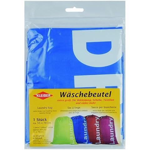 Kleiber - Bolsa para la ropa sucia, con cierre de cordón corredizo, color azul