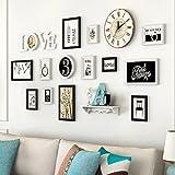 &Dekorative Wände Holz Bilderrahmen, 13 Teile/sätze Collage Bilderrahmen Set, Vintage Bilderrahmen, Familie Bilderrahmen Wand DIY Bilderrahmen Sets Für Wand Modischer Entwurf (Farbe : C)
