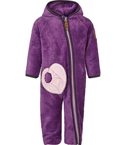 Racoon Baby-Mädchen Helga Teddyfleecespieler Spieler, Violett (Crushed Grape Cru), 80