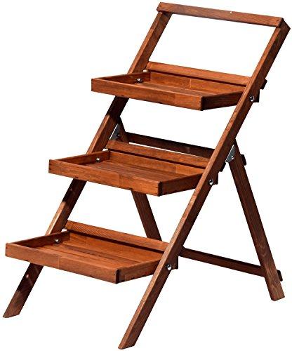 dobar 29062FSC Fleurs escalier avec raccord de stable pliable, 46 x 102 cm, marron/noir XL marron